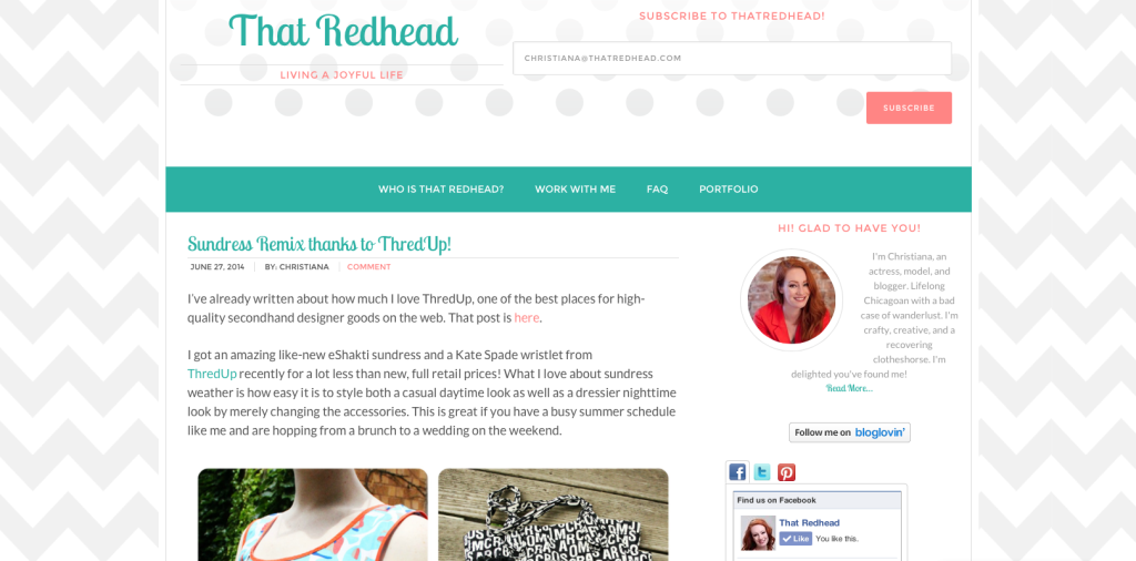 Modern Blogger theme from Pretty Darn Cute Designs. Genesis framework for WordPress sites.
